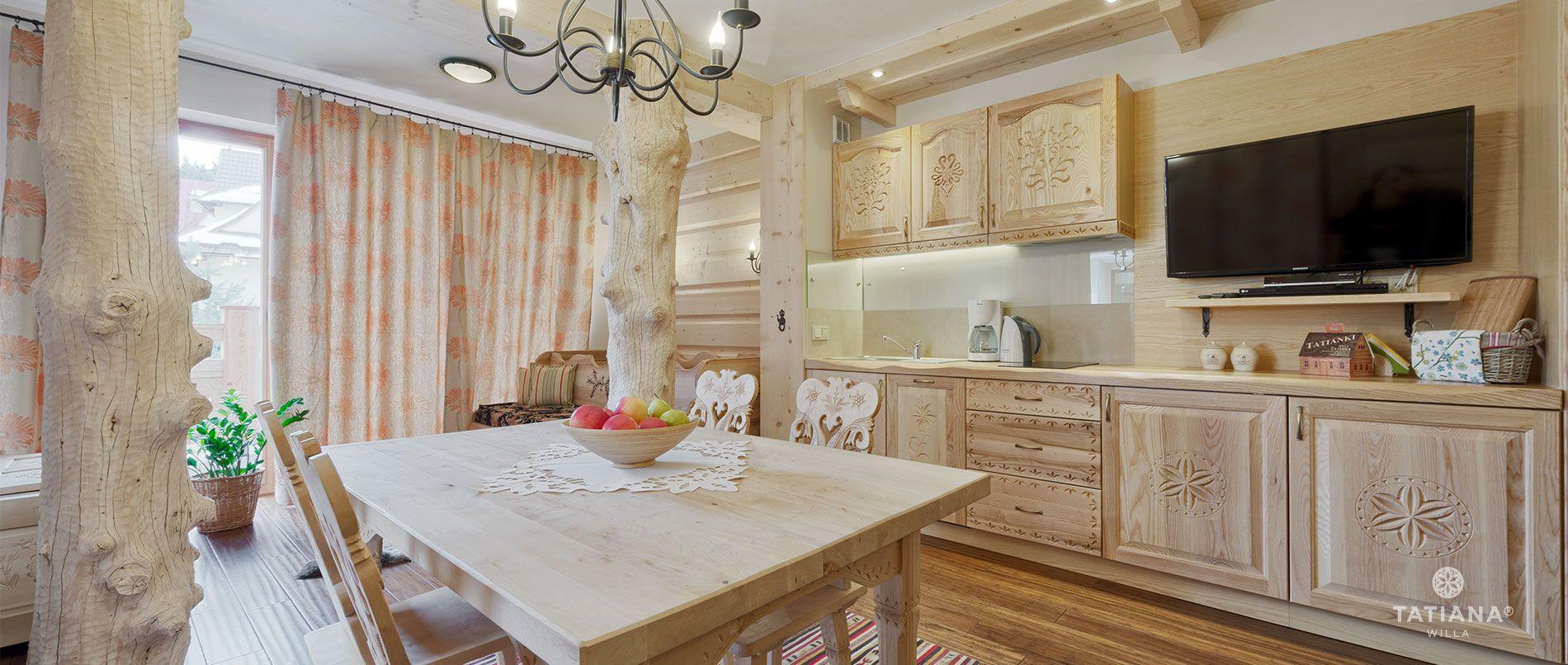 Apartament Lux11- aneks kuchenny