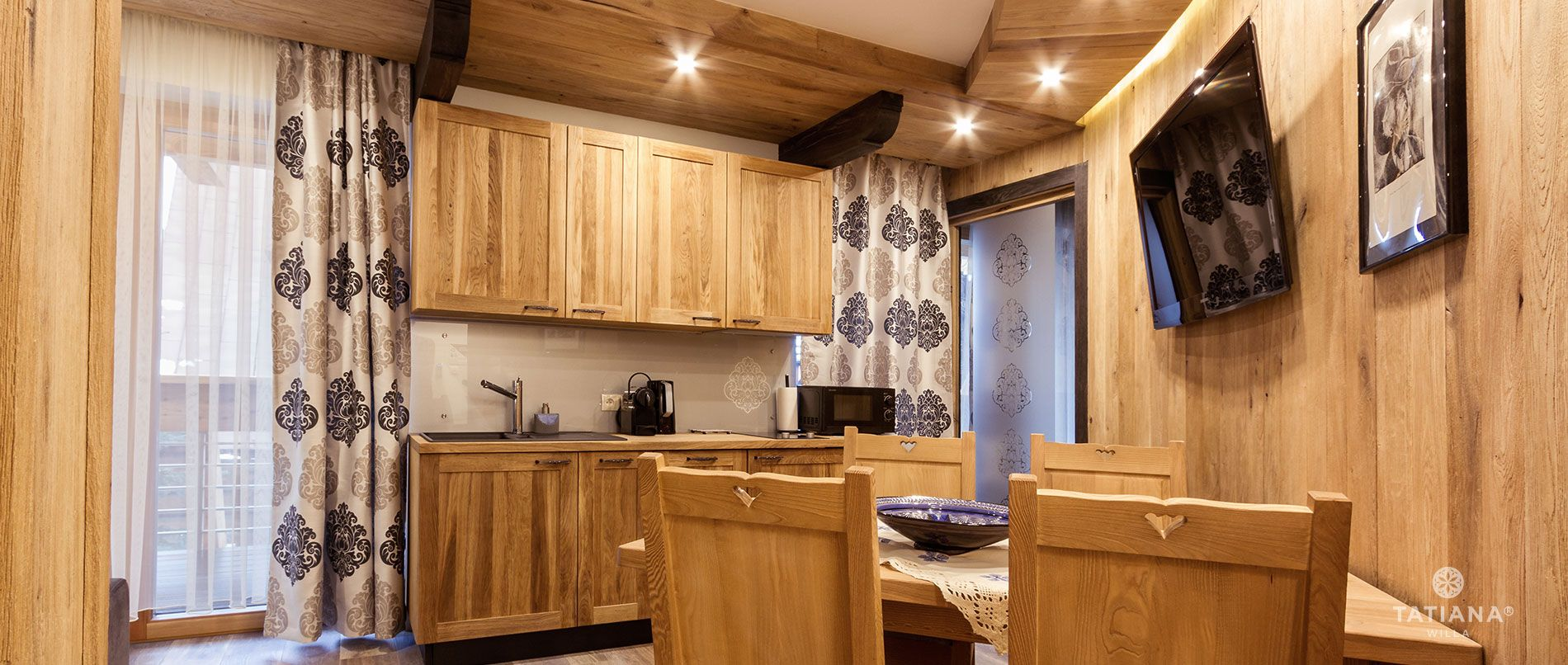 Apartament Stary Dębowy - aneks kuchenny