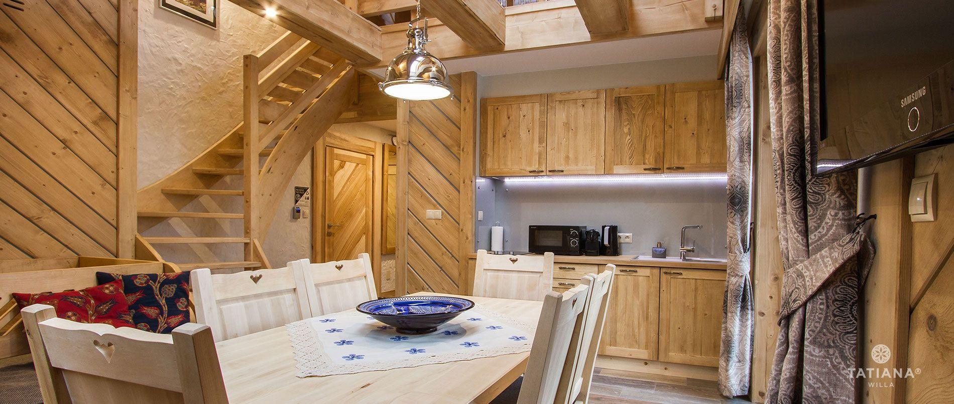 Apartament Stary Smrekowy - aneks kuchenny