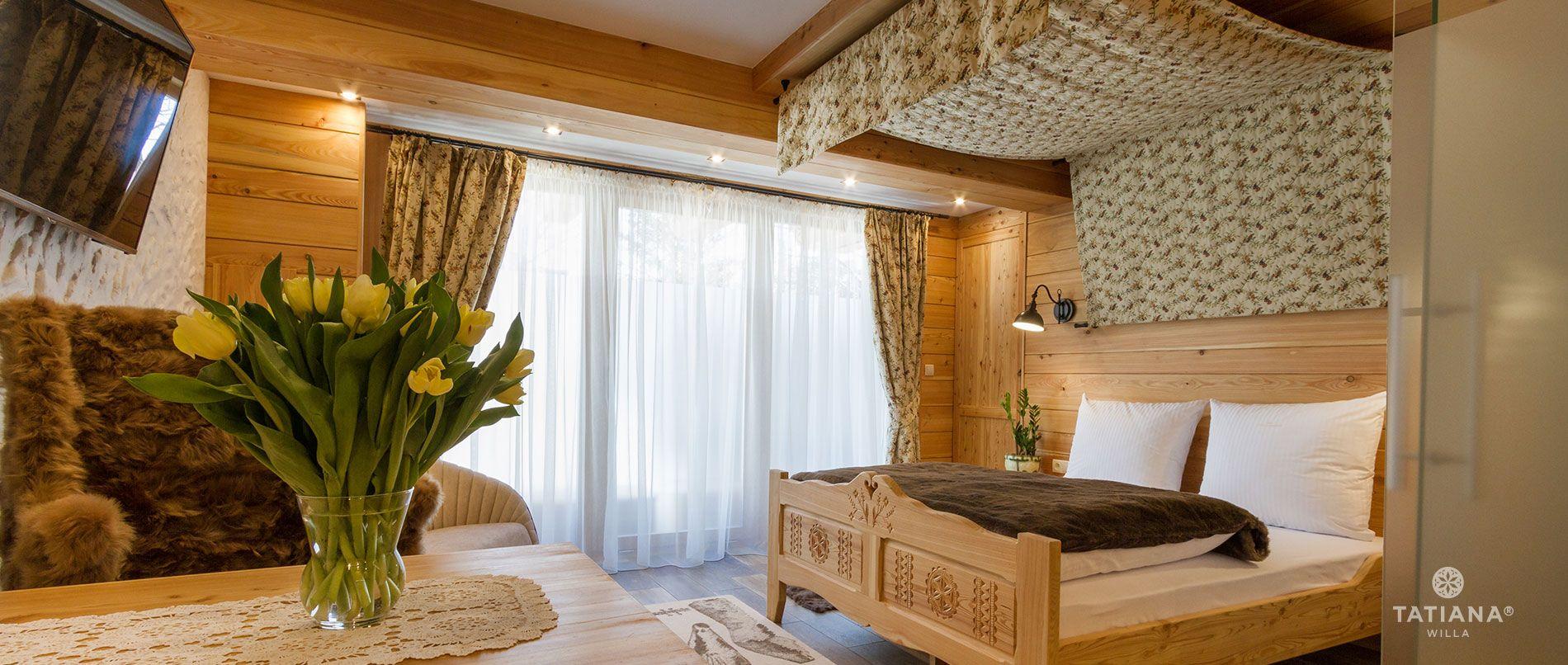 Apartament Modrzewiowy- sypialnia