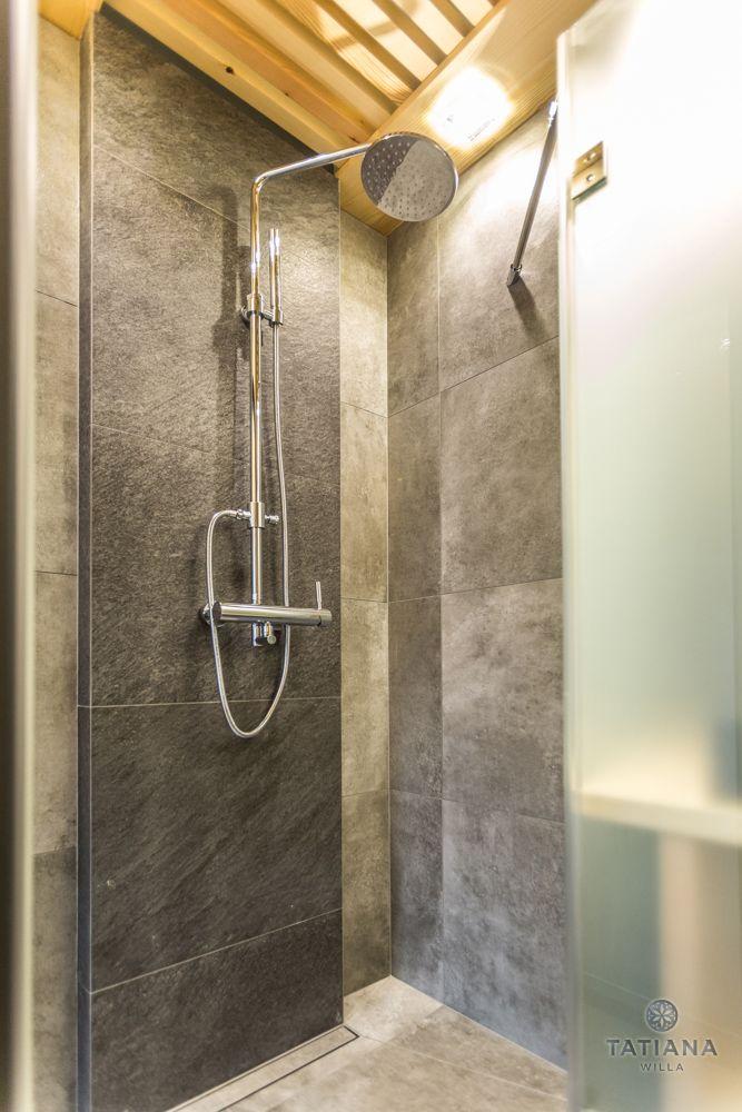 Apartament Alpejski Willa Tatiana folk prysznic z kamienia