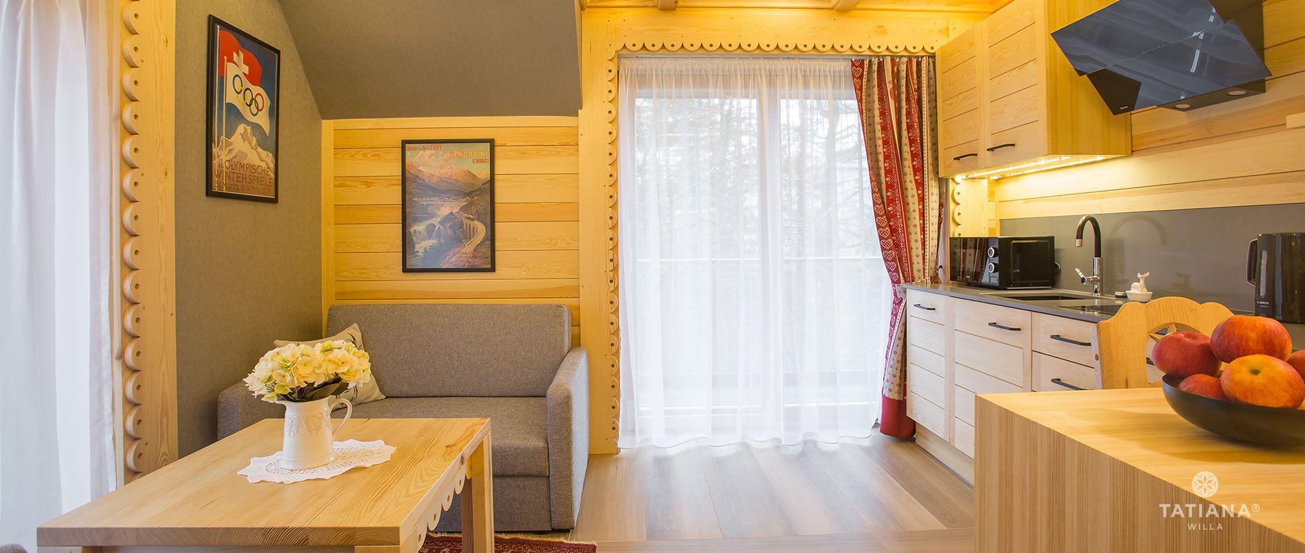 Apartament Alpejski - aneks kuchenny