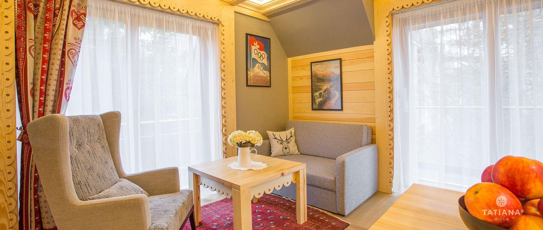 Apartament Alpejski - salon