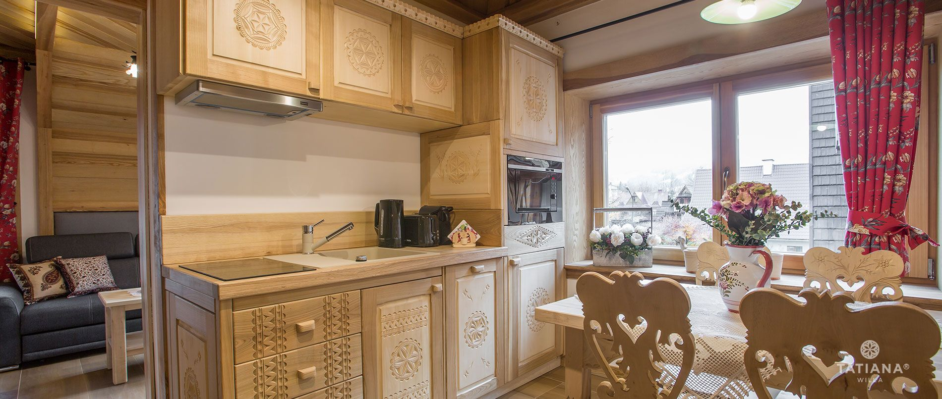 Tatra Apartment - Kitchen with dining room
