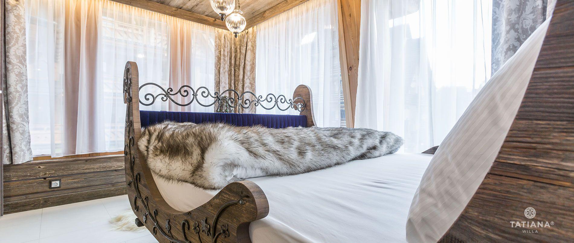 Apartament Syberyjski - łoże