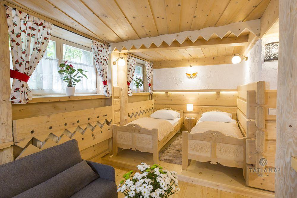 Apartament 1 Tatiana Premium Zakopane drewniany pokój