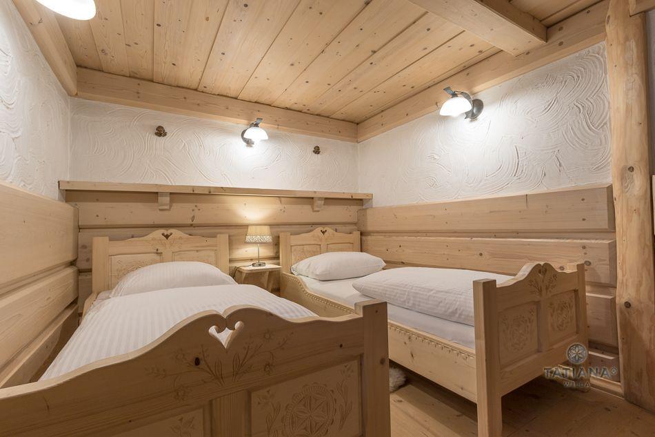Apartament 5 Tatiana Premium Zakopane drewniana sypialnia