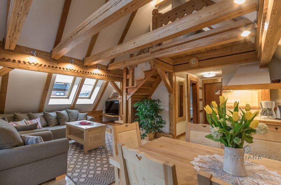 Apartament 9 Tatiana Premium Zakopane drewniane wnętrze