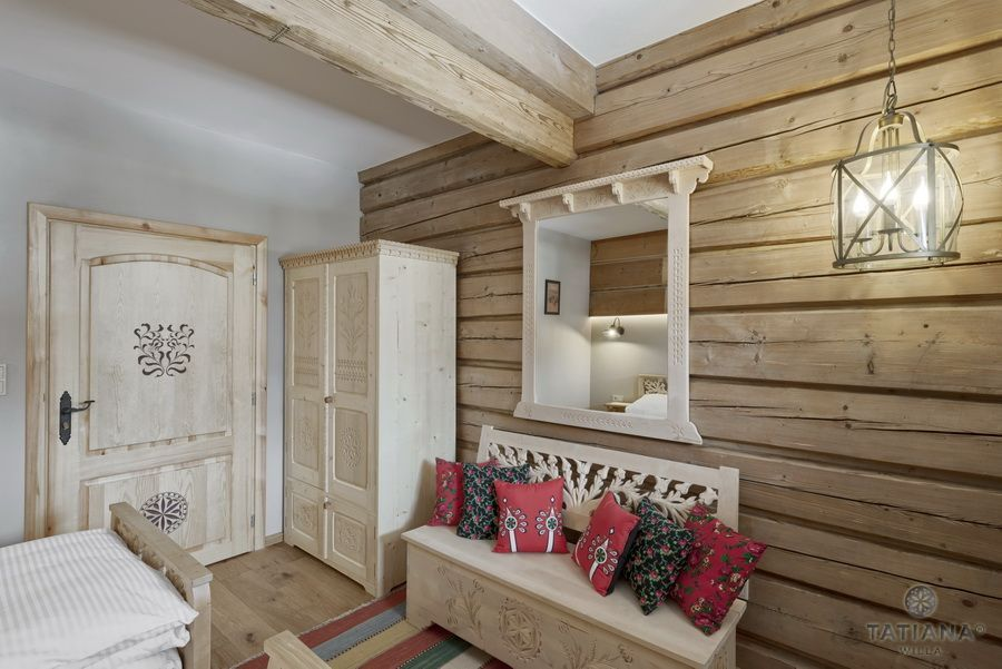 Apartament 15 Willa Tatiana II Zakopane drewniane wnętrze z akcentem góralskim