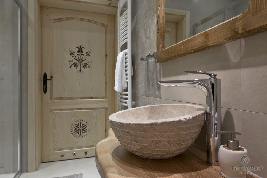 Apartament 16 Willa Tatiana II Zakopane umywalka z marmuru