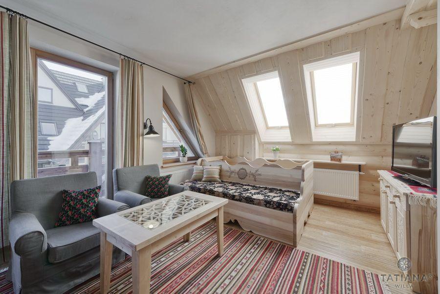 Apartament 17 Willa Tatiana lux Zakopane góralskie wnętrze