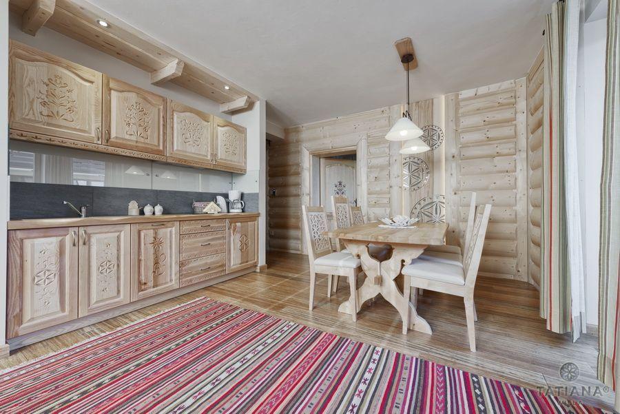 Apartament 17 Willa Tatiana lux Zakopane kuchnia w stylu góralskim