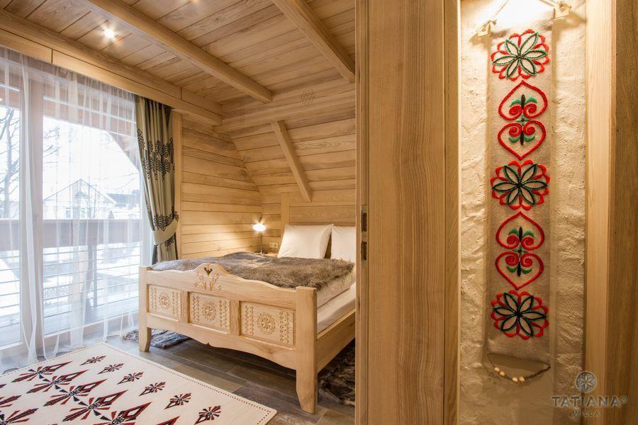 Apartament Jesionowy Willa Tatiana boutique góralska sypialnia