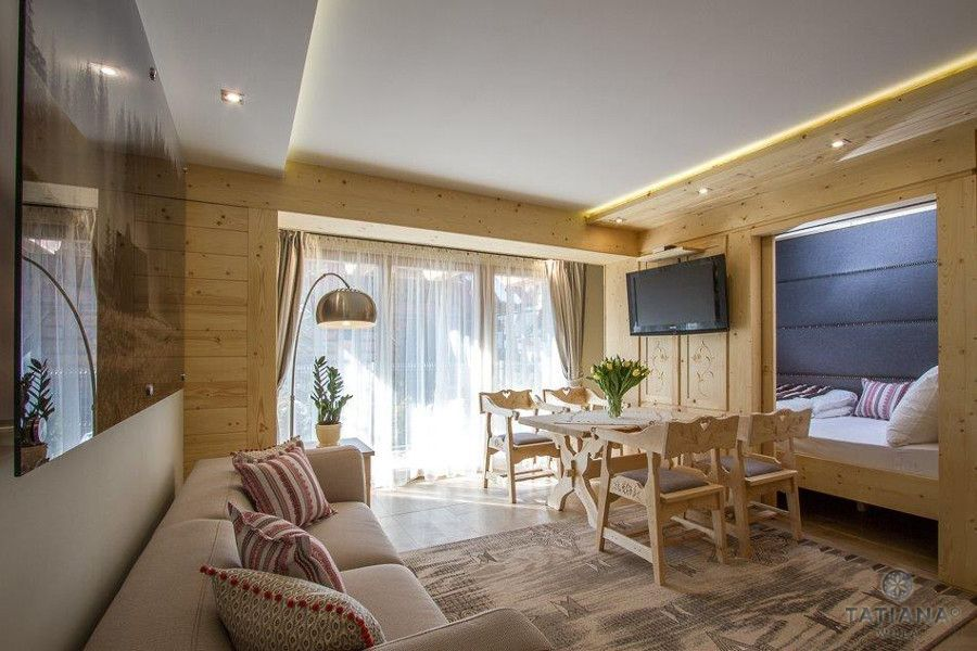 Apartament Sosnowy Willa Tatiana boutique drewniane wnętrze
