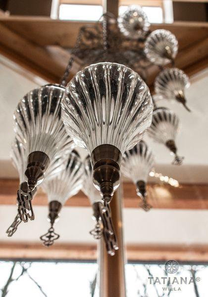 Willa Tatiana boutique korytarz z kryształową lampą Zakopane